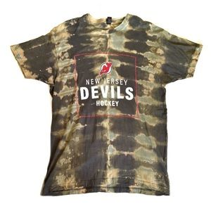 NJ Devils • Bleach Dyed Tee